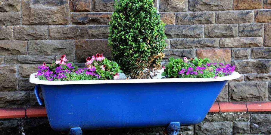 Pot de jardin baignoire